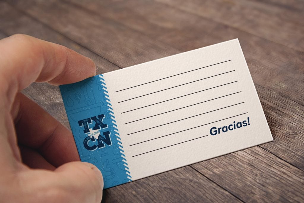 San Antonio Design Texican Business Card