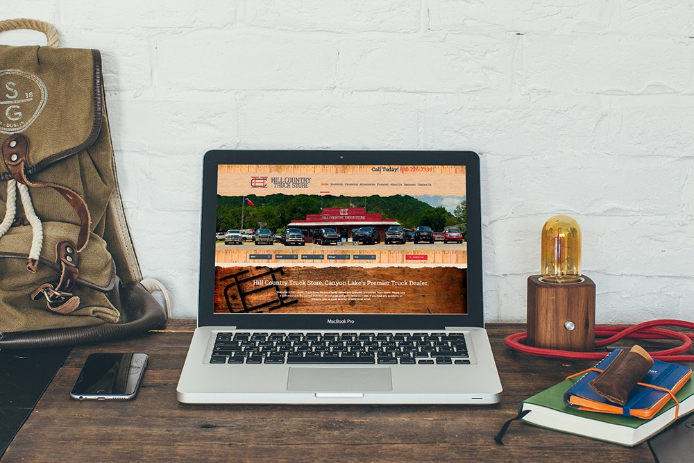 San Antonio Web Design Hill Country Truck Store Website